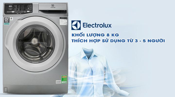 Sử dụng 3 - 5 người Máy giặt Electrolux Inverter EWF8025CQSA 8 kg