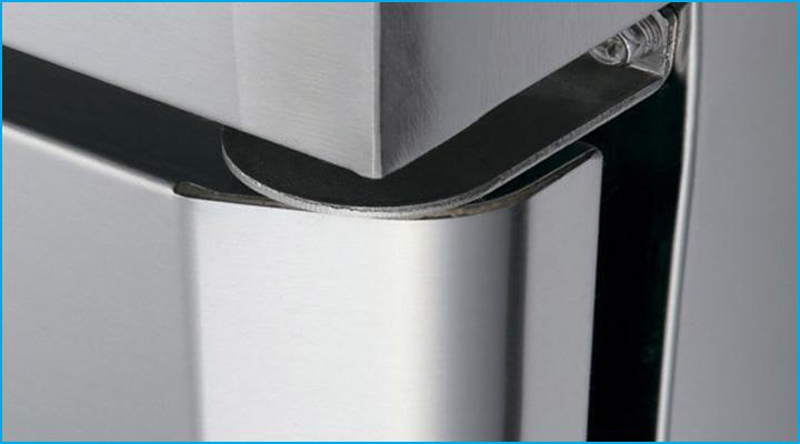 Bản lề hoạt động linh hoạt, chế độ đóng cửa tự động của bàn mát KUR18-3