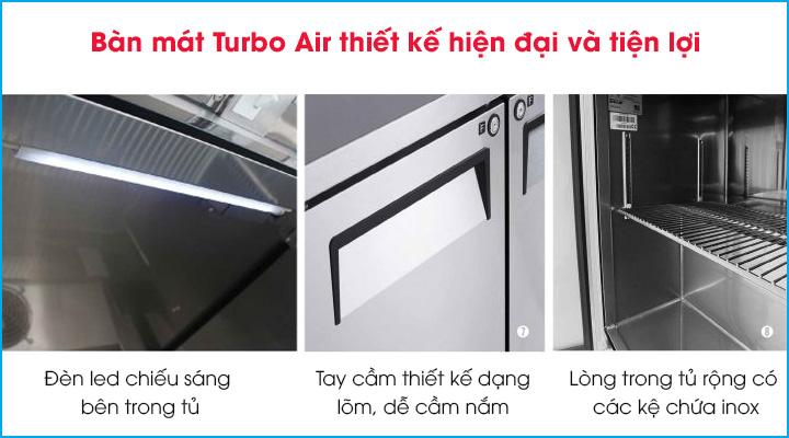 Bàn mát Turbo Air KUR18-3 có thiết kế tiện lợi