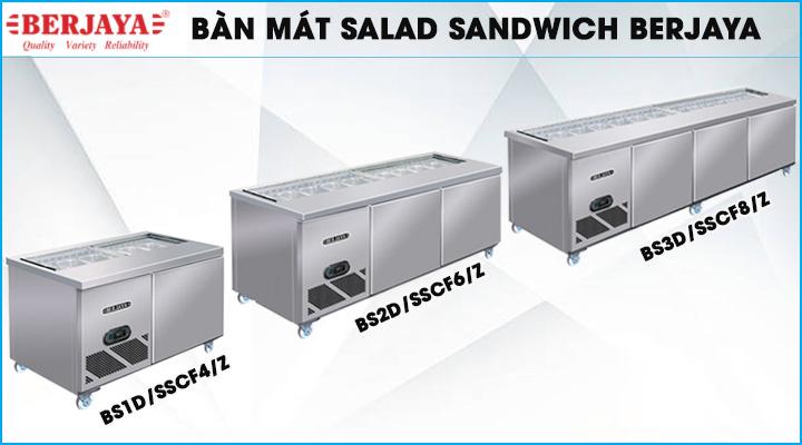 Bàn mát Salad Sandwich Berjaya đa dạng các kích thước
