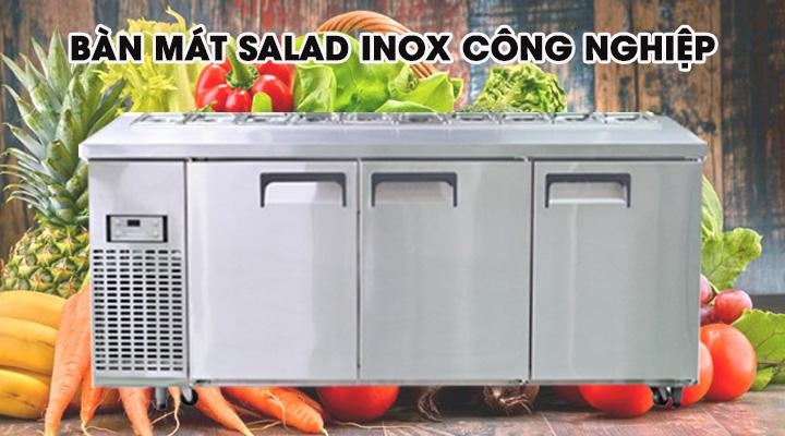 Tổng quan về bàn mát salad inox công nghiệp