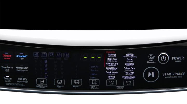 Bảng điều khiển gồm màn hình hiển thị sắc nét cùng các nút bấm mềm siêu nhạy