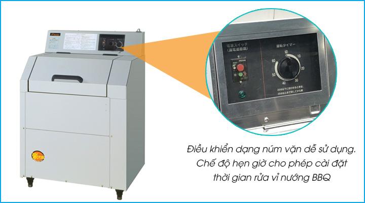 Máy rửa vỉ nướng BBQ GRC-55C có bảng điều khiển dạng núm vặn dễ sử dụng