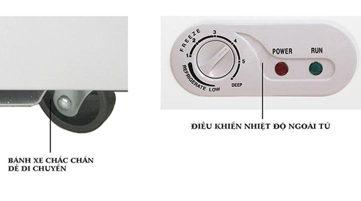 Bảng điều chỉnh nhiệt dễ sử dụng và bánh xe di chuyển dễ dàng