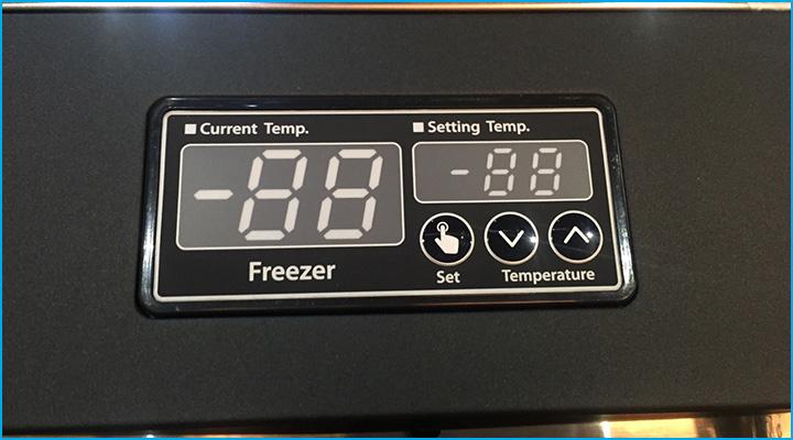 Bảng điều khiển điện tử và màn hình hiển thị sắc nét của tủ đông KF65-3