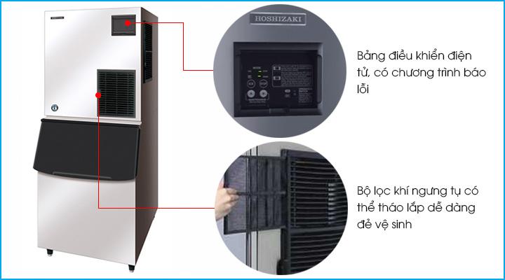 Bảng điều khiển và bộ lọc khí của máy làm đá viên Hoshizaki FM-1000AKE-N