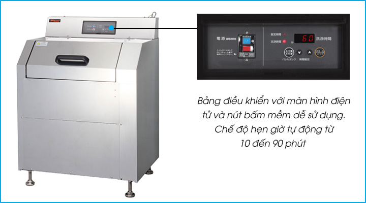 Máy rửa vỉ nướng BBQ GAC-70A có bảng điều khiển với màn hình điện tử và các nút bấm mềm dễ sử dụng