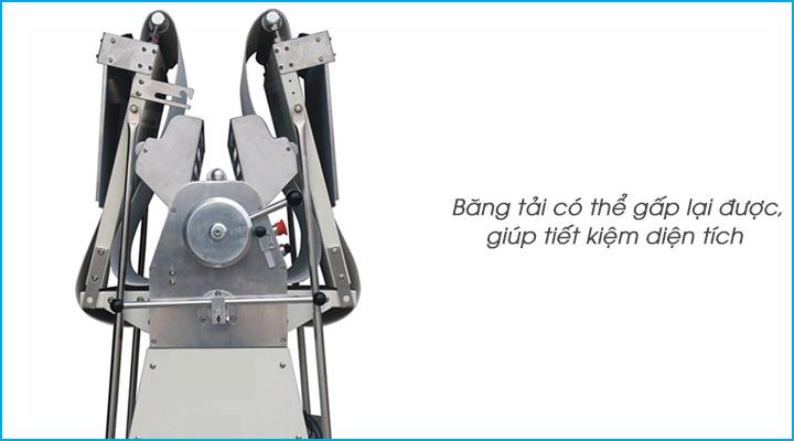 Băng tải của máy cán bột Torng Yuen có thể gấp lại được