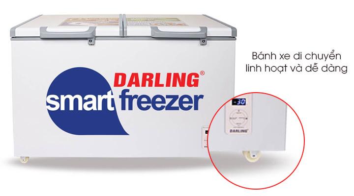 Bánh xe của tủ đông mát Darlingg di chuyển linh hạt và dê dàng