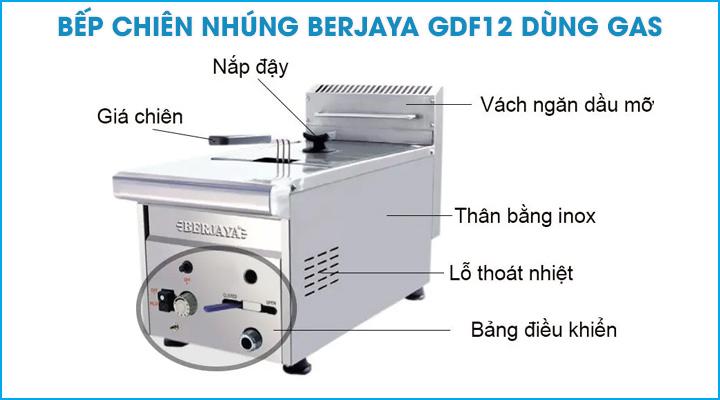 Bếp chiên nhúng gas Berjaya GDF12