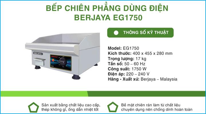 Bếp chiên phẳng dùng điện Berjaya EG1750