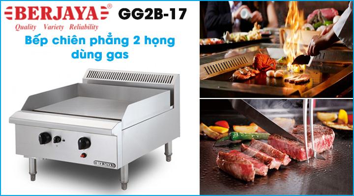 Bếp chiên phẳng dùng gas Berjaya GG2B-17