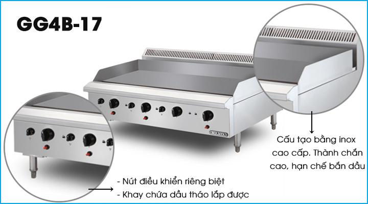 Bếp chiên phẳng dùng gas Berjaya GG4B-17
