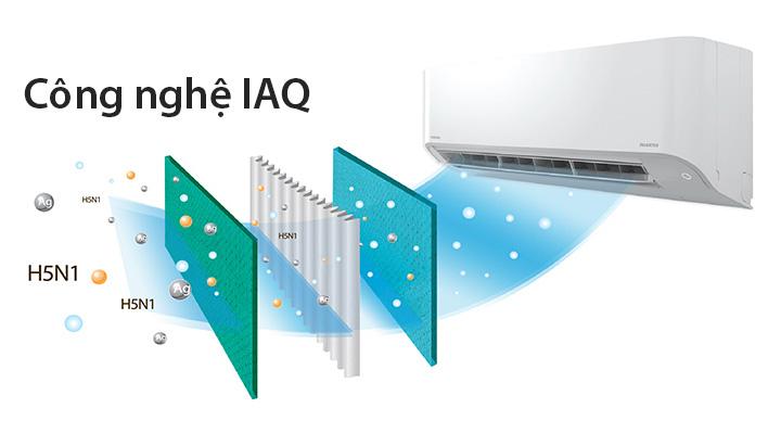 Công nghệ IAQ diệt khuẩn khử mùi hiệu quả