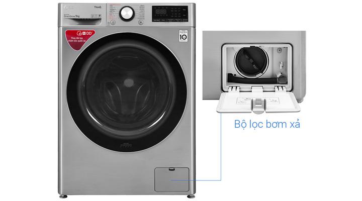Bộ lọc bơm xả của máy giặt sấy LG FV1409G4V