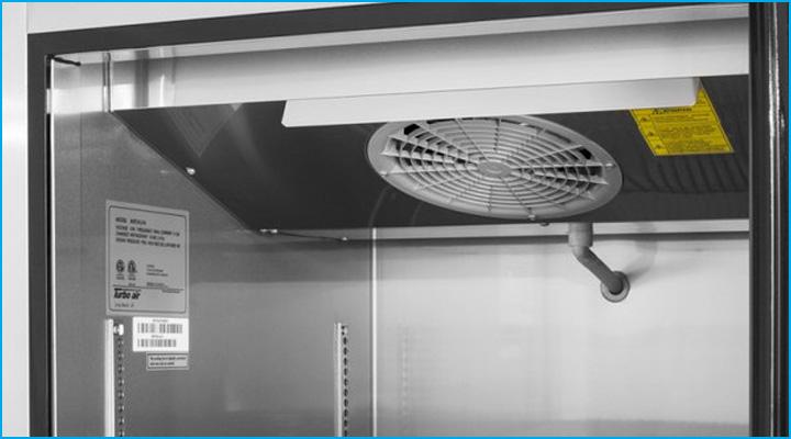 Bộ phận quạt gió của tủ mát Turbo Air KR25-1