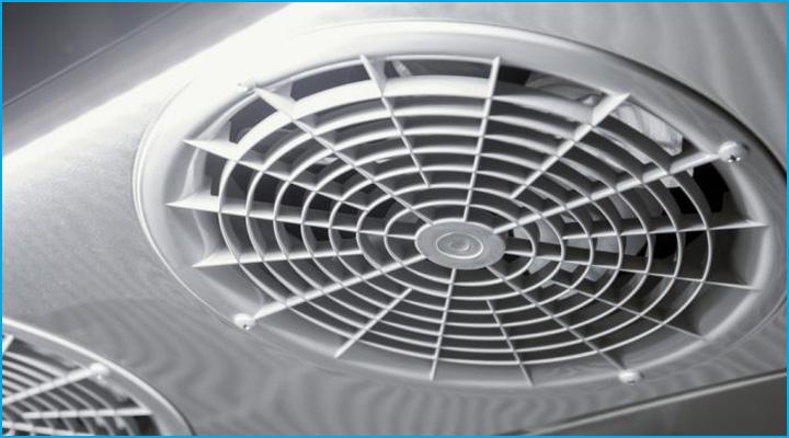 Quạt lồng sốc trên nóc tủ đông KF45-2 giúp phân bổ nhiệt đều