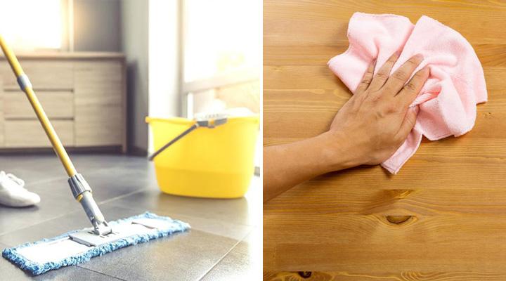 Cách lau chùi sàn gỗ với hóa chất