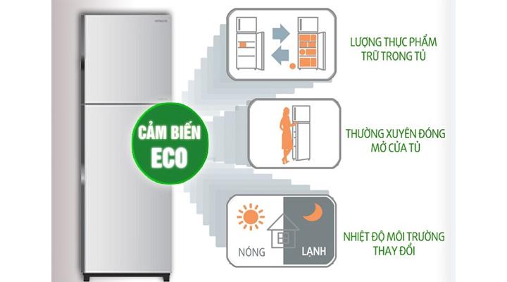 Cảm biến nhiệt Eco điều chỉnh mức nhiệt phù hợp cho việc bảo quản thực phẩm