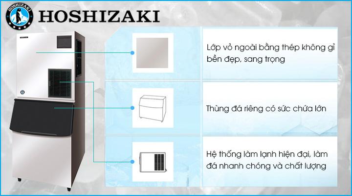 Máy làm đá viên Hoshizaki FM-1000AKE-N có cấu tạo chắc chắn, bền đẹp và hiện đại