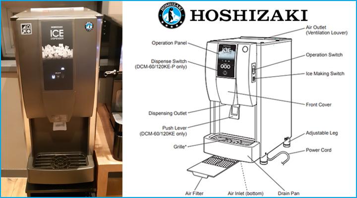 Cấu tạo chung của máy làm đá Hoshizaki DCM-120KE