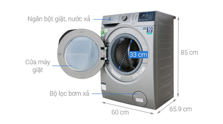 Cấu tạo của máy giặt Electrolux EWF9024ADSA