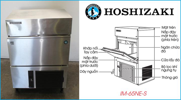 Cấu tạo chung của máy làm đá hình ngôi sao Hoshizaki IM-65NE-S
