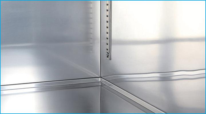 Cấu trúc tủ đông KF65-6 bằng thép không gỉ cao cấp bền đẹp
