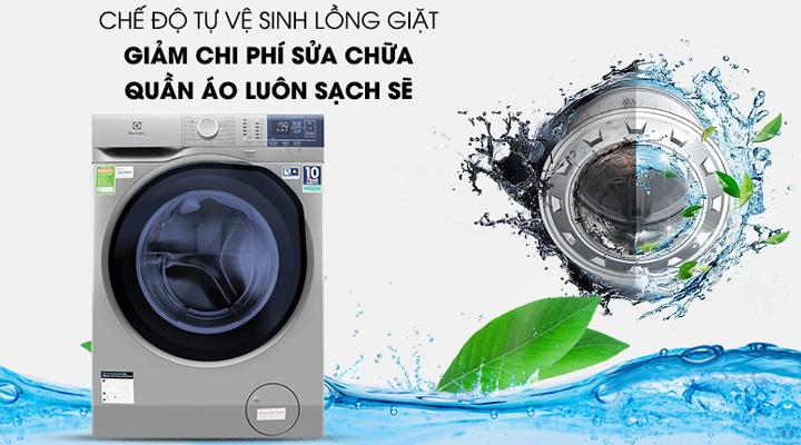 Máy giặt Electrolux EWF9024ADSA có tính năng tự vệ sinh lồng giặt