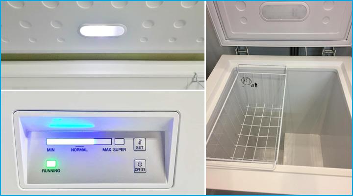 Chi tiết về tủ đông Sanden Intercool SNH-0105