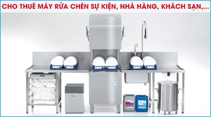 Cho thuê máy rửa chén dùng cho nhà hàng, khách sạn hoặc tổ chức sự kiện