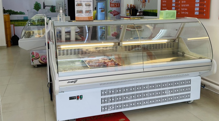 Chọn tủ mát trưng bày thịt cá tươi sống theo quy mô hoạt động và nhu cầu sử dụng