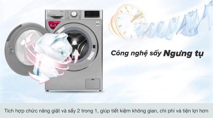Máy giặt sấy LG FV1409G4V trang bị chức năng sấy ngưng tụ