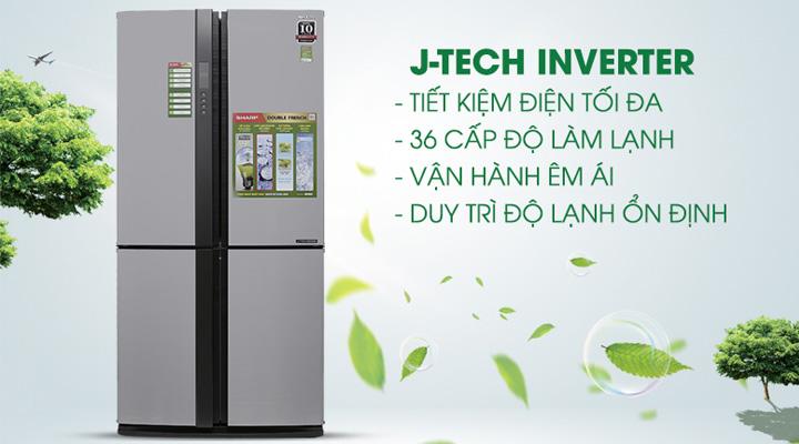 Công nghệ J-Tech Inverter cho máy vận hành bền bỉ và tiết kiệm điện năng