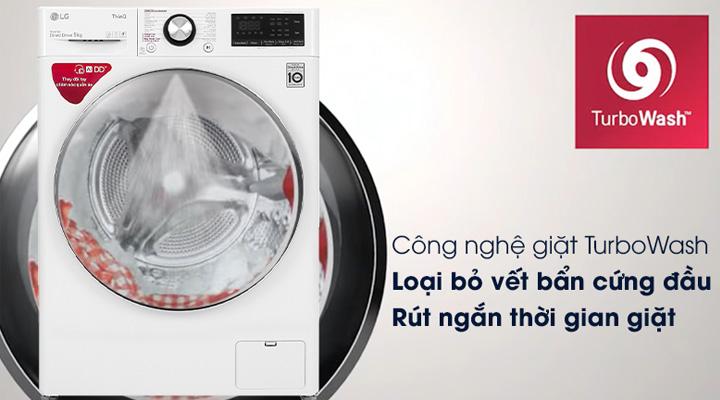 Sử dụng công nghệ TurboWash giúp giặt nhanh, tiết kiệm thời gian và công sức