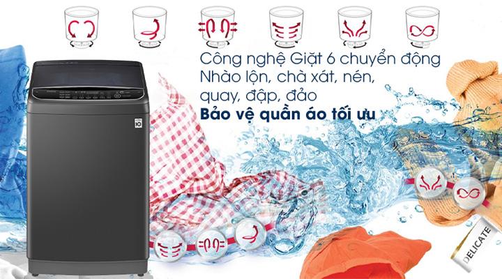 Máy giặt LG TH2111SSAB ứng dụng công nghệ 6 chuyển động