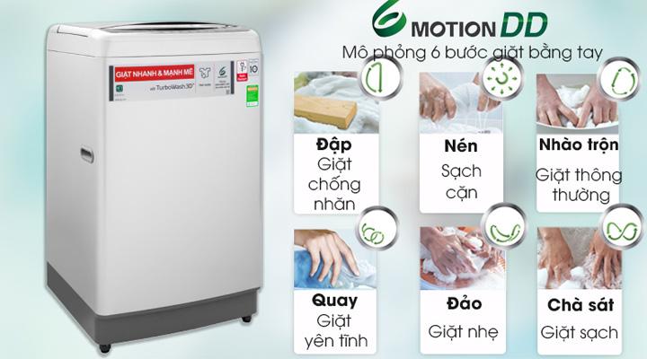 Công nghệ giặt 6 chuyển động của máy giặt LG Inverter TH2111SSAL