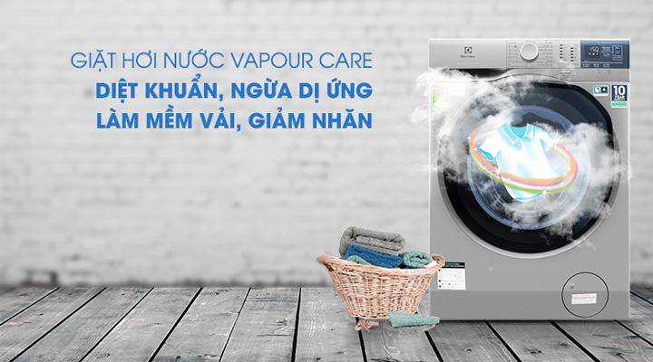 Máy giặt Electrolux EWF9024ADSA trang bị công nghệ giặt hơi nước VapourCare