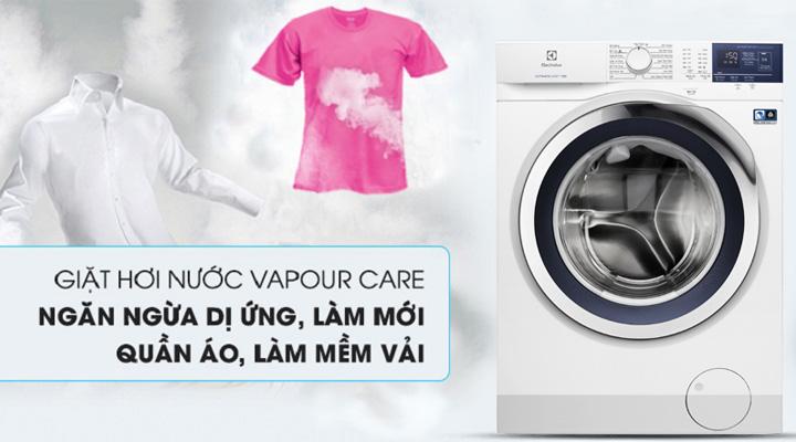 Máy giặt Electrolux EWF9024BDWA sử dụng công nghệ giặt hơi nước VapourCare