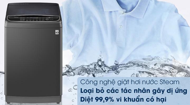 Máy giặt LG Inverter TH2111SSAB  trang bị công nghệ giặt hơi nước Steam