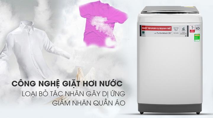Máy giặt LG Inverter TH2111SSAL sử dụng công nghệ giặt hơi nước Steam