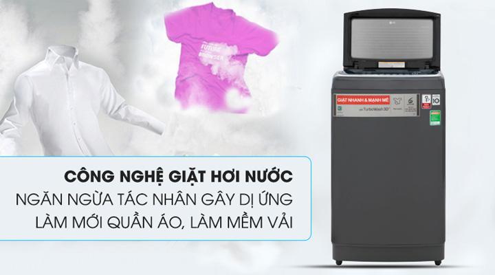 Máy giặt LG Inverter TH2113SSAK sử dụng công nghệ giặt hơi nước Steam