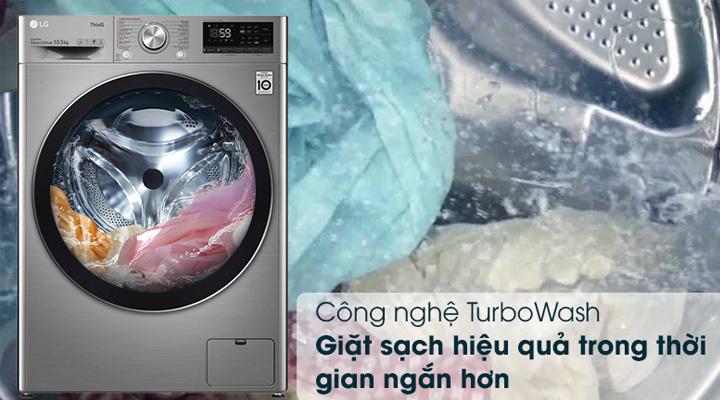 Máy giặt LG FV1450S3V trang bị công nghệ TurboWash giúp giặt nhanh và sạch