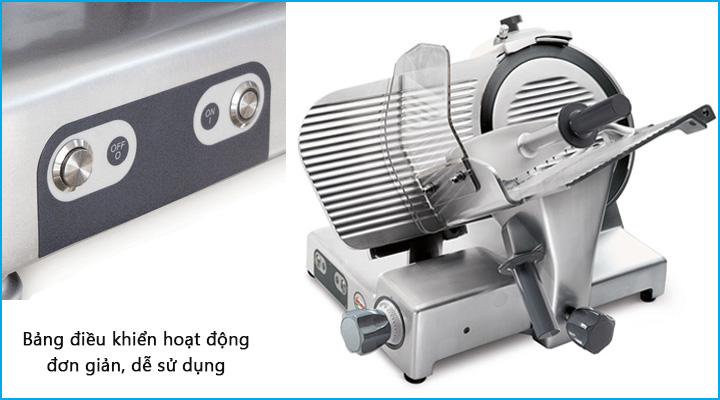 Máy cắt thịt Sirman Palladio 300 có công tắc điều khiển đơn giản