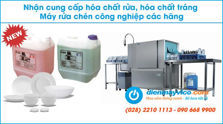 Cung cấp hóa chất tráng rửa cho máy rửa ly chén