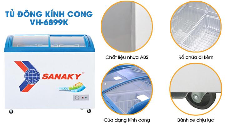 Tủ đông Sanaky VH-6899K có thiết kế bền đẹp, tiện lợi