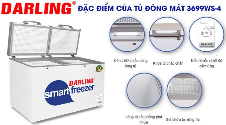 Đặc điểmcủa tủ đông mát Darling DMF-3699WS-4