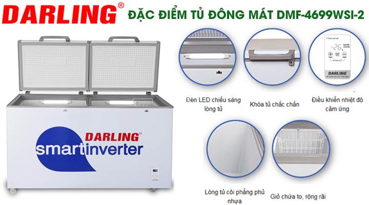 Đặc điểm cấu tạo của tủ đông mát Darling Inverter DMF-4699WSI-2