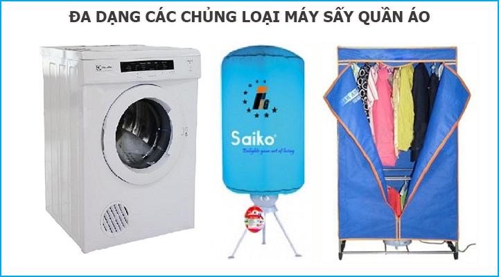 Đánh giá về chủng loại máy sấy quần áo để chọn mua máy sấy quần áo