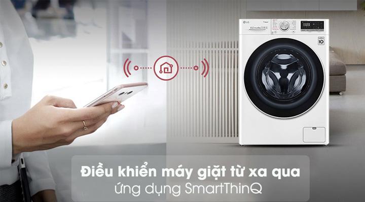 Ứng dụng điều khiển thông minh SmartThinQ dễ dàng điều khiển máy giặt từ xa